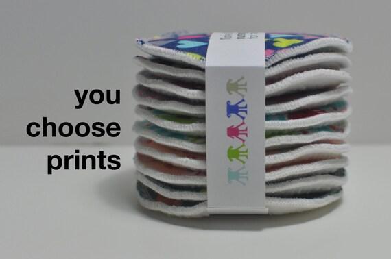 5 PAIRS LARGE nursing pads. You choose prints