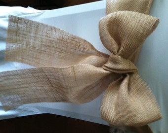 Burlap Chair Sashes - Great for a Wedding or other Special Event