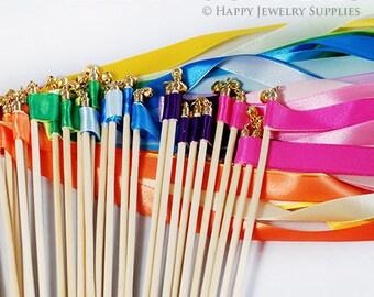 50pcs wedding ribbon wands wedding decoration party decoration bridal shower
