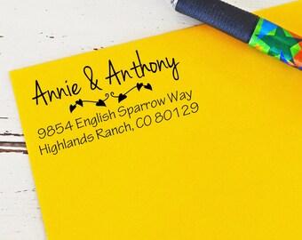 Self Inking Rubber Stamp - Couples Stamp  - Housewarming gift - Wedding gift - Custom Stamp