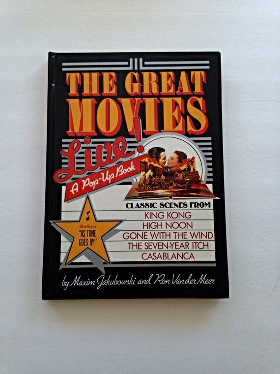 The Great Movies Live A Pop Up Book Classic Scenes from Casablanca, Seven Year Itch, King Kong