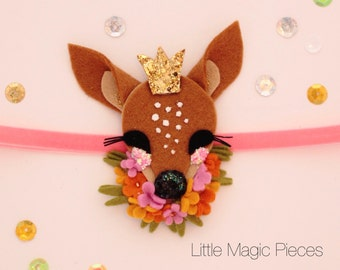 Woodland Princess Fawn Deer Headband Felt
