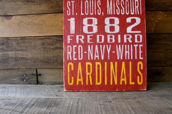 St. Louis Cardinals Distressed Wood Sign--Great Father's Day Gift!