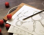 DOODLE Groceries List / Planner / Organizer   Printable Letter size pdf templates   Unique Creative Artistic Management Reminder Tool