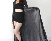Witchy Black Sparkle Semi Sheer Maxi Dress Cover Up