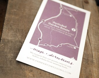 Custom Map Printable PDF Download—for Wedding Invitations or any Event