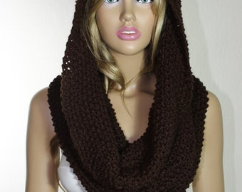 Knit Scarf Knit Infinity Scarf Handknit Scarf Cowl Scarf Knit Cowl Chunky Cowl Cowl Neckwarmer Christmas Gifts Wool Scarf  Infinity Scarves