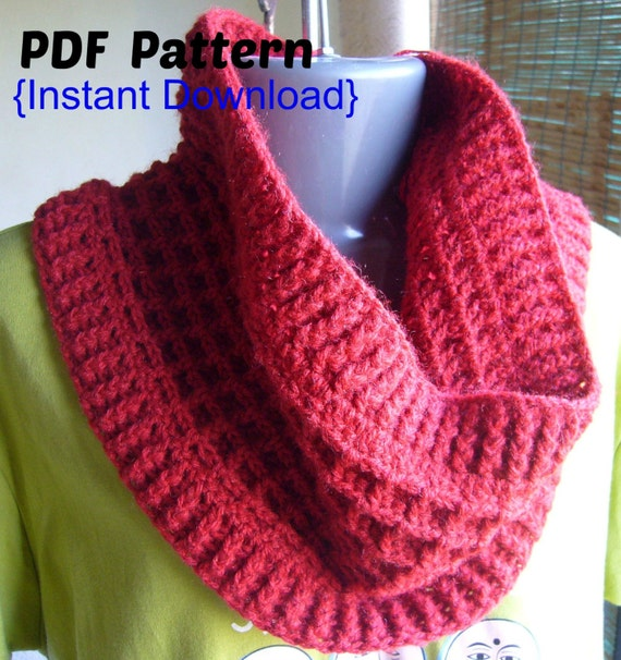 Crochet Patterns Waffle Stitch : Crochet Pattern Crochet Waffle stitch cowl with by Crochetkari