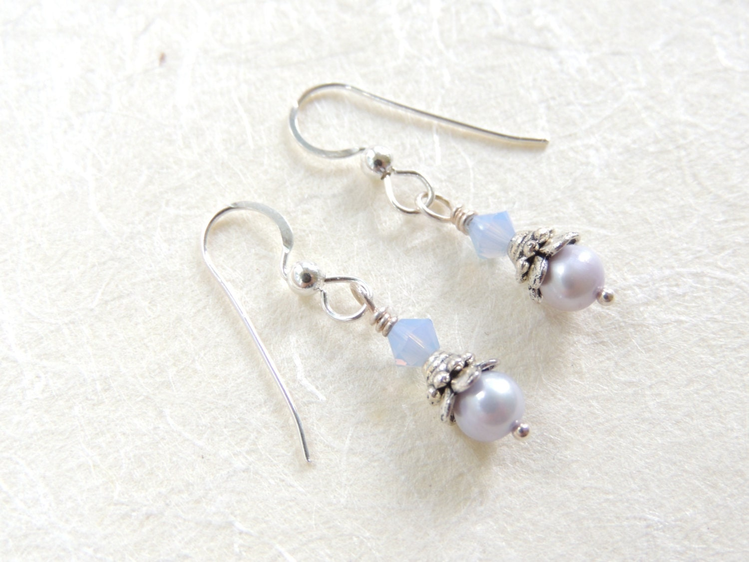 infant pearl earrings baby blue freshwater pearl earrings flower earrings pearl 6644
