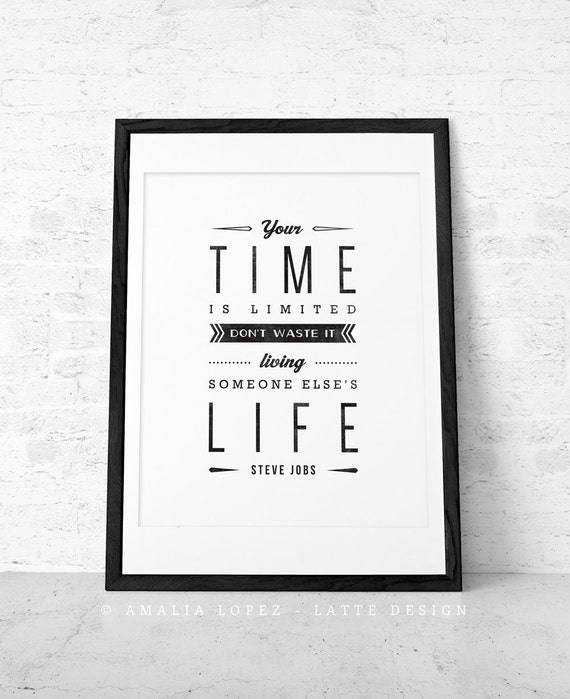 Steve Jobs Quotes On Hard Work: Steve Jobs Quote Print. Inspirational Quote Print. By