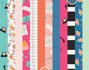 Hello Friend Digital Papers - 12 Hand-Drawn Digital Papers- Commercial Use - instant download