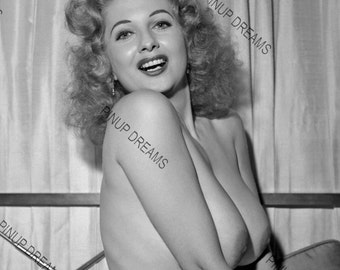 Beautiful Set of 5 Black and White Vintage Photograph re-prints of Tempest Storm Burlesque Legend in various sizes