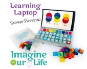 Learning Laptop Quiet Book Digital Sewing Pattern