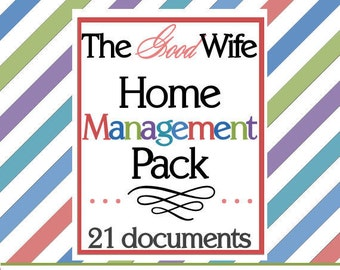 INSTANT DOWNLOAD The Good Wife Home Management Pack (21 documents)