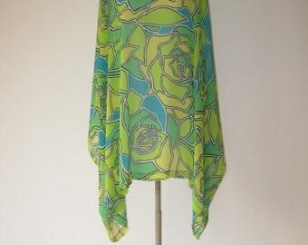 shirt / poncho printed chiffon