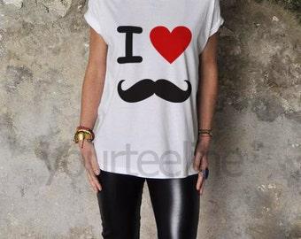 I love mustache tshirt,mustache, tshirt