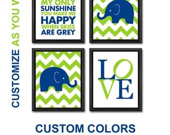 green blue elephant baby nursery, safari boy nursery, elephant baby boys room, elephant nursery decor, elephant nursery print, baby decor