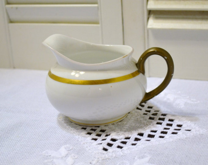 Vintage Noritake Nippon RC Creamer White Gold Japan PanchosPorch