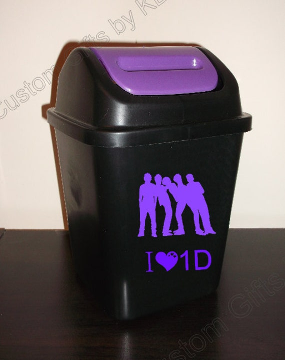 Purple lid customized small plastic trash can 1 by customgiftsbykb - Small trash can with lid ...