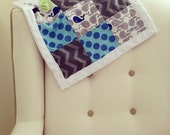 Baby Security Lovey Snuggle Blanket - Patchwork with Minky Border