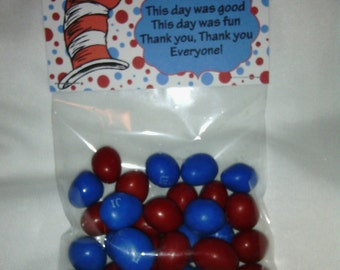 Dr Seuss / The Cat in the Hat - Treat Bag Topper