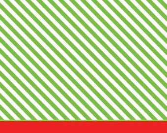 Diagonal Lime Stripe with Red Stripe Gift Tag
