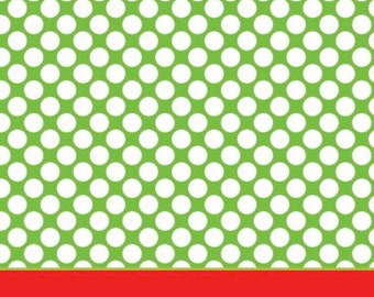 Lime Polka Dot with Red Stripe Gift Tag