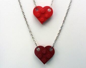 LEGO Heart Necklace