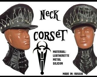Fetish gothic Neck Corset