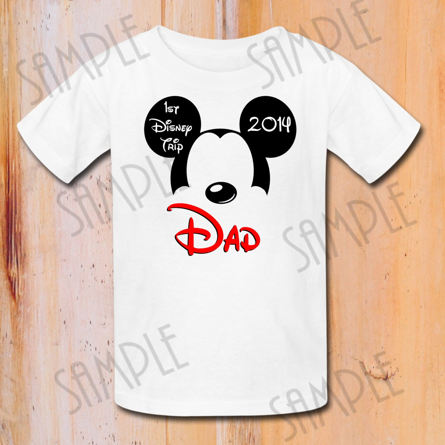 Disney family vacation t shirts iron on transfer printable dad for Custom t shirts family vacation