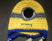 One-eyed Minion Earflap Hat