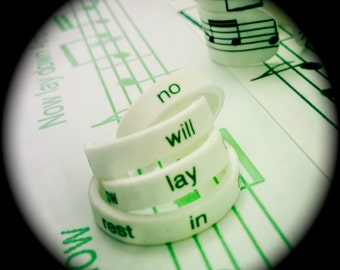 Custom Lyrical Skinny Stackable Minis Ring Set