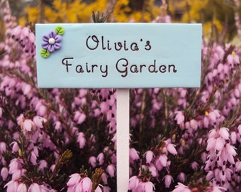 Custom Made Personalized Fairy Garden Miniature Sign with your name