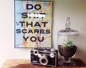 Do Sh-t That Scares You - Inspirational Art Print - 8x10 Print