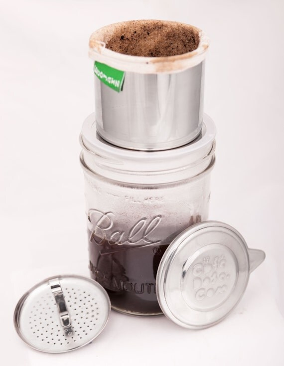 Coffee Maker Jar : DOSE: Stainless Steel Coffee and Tea Maker for Mason Jars
