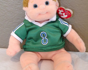 TY Beanie  Kids - BOOMER - MINT with  Tags-Soccer Shirt-1994 Retired