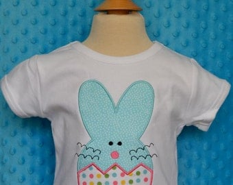 Personalized Easter Bunny Egg Applique Shirt or Onesie Girl or Boy