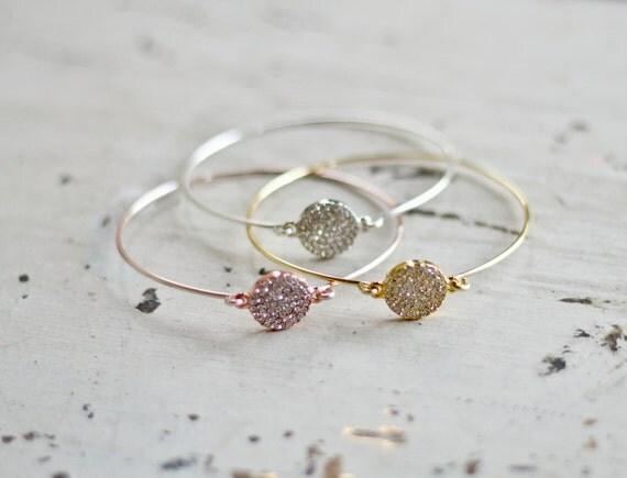 gold bangle bracelet, rhinestone bracelet, bridesmaid gift, bridesmaid jewelry, bridesmaid bangle, gift for her