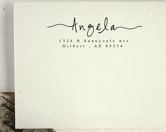 Personalized Custom Return Address Stamp Name Gift Card Handle Mounted Rubber Stamp Or Pre-inked Stamp Self inking Stamp RE661