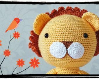 Crochet Lion Amigurumi PATTERN ONLY PDF Download  Toy Animal Crochet Pattern