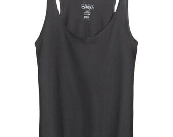 Black Tank Top, Organic Cotton Top, organic cotton tank, organic cotton shirt, Long Tank Top, Workout Tanks for women, Tunic Tank, yoga tank