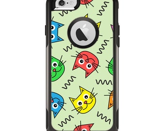 The Colorful Cat iCons Apple iPhone 6 Otterbox Commuter Case Skin Set