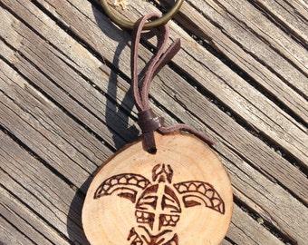 Tribal Turtle Keychain