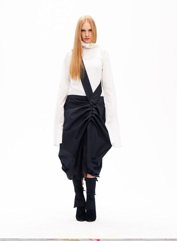 knee length skirt maxi skirt fashion skirt black