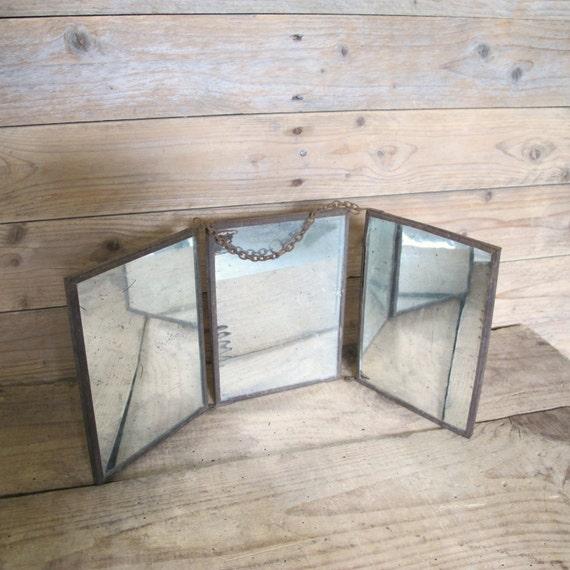 antike franz sische triptychon eitelkeit faltreifen spiegel. Black Bedroom Furniture Sets. Home Design Ideas