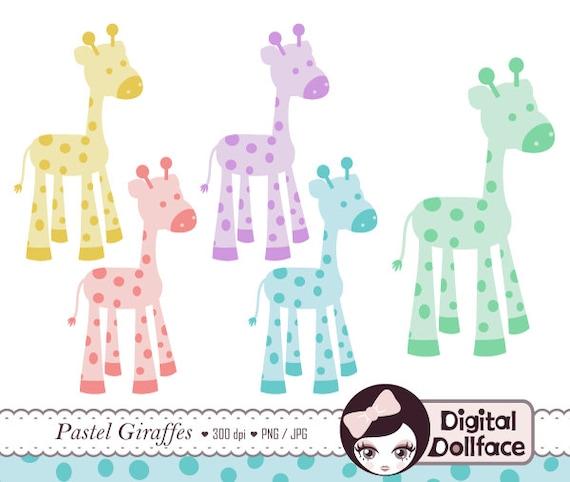 Items similar to Giraffe Clip Art, Baby Shower Animal ...