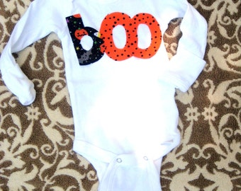 Halloween Boo Bodysuit for Babies, Halloween Outfit for babies, Halloween bodysuit/shirt for boys or girls