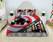 Motocross Comforter, Dirt Bike Bedding, Motocross Bedding Sets, ATV Bedding  #57