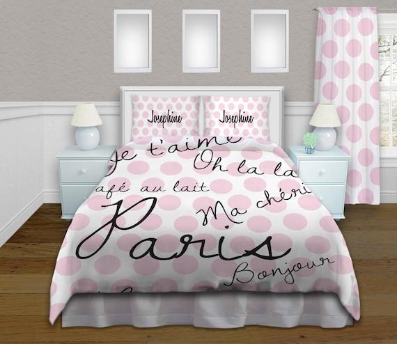 rose literie literie de th me paris housse par eloquentinnovations. Black Bedroom Furniture Sets. Home Design Ideas