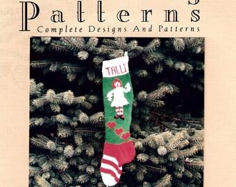 Christmas Stocking Pattern, Rag Doll
